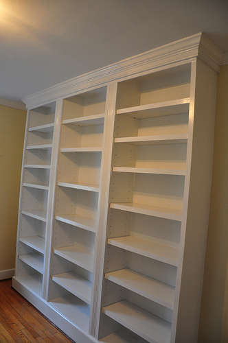 bookshelf with glass doors plans